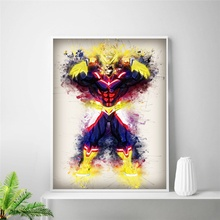 My Hero Academia Art Oil Painting posters and print Room wall Decor 50x75cm