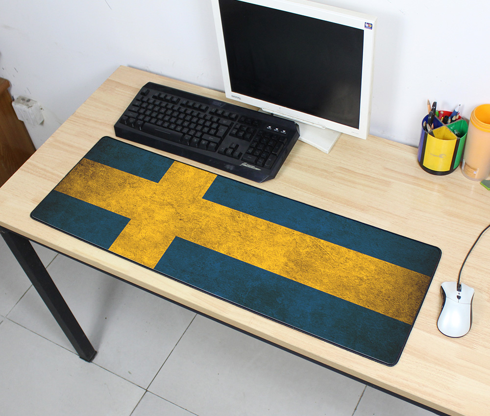 thick Vintage Gaming Mouse Pad Popular Plain Extend UKUSKorea Flag Desk Keyboard Mouse Mat Mousepad Gamer for High-end Game
