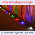 10pcs/lot Solar led underground light Emergency Driveway/Garden/Pathway 1led Bright Buried Ground Floor Lamp Road Deck Lights