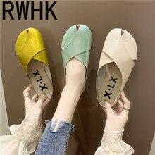 RWHK Slippers female 2019 new summer flat fashion half slippers female baotou slippers women wear wild slippers women B159