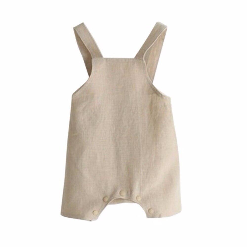 Summer Baby Girl Boy Suspender Rompers Infant Kid Jumpsuit Soft Linen Clothes Overalls adult mens light blue overalls denim suspender pants men salopette jeans new arrival slim straight jumpsuit 71401