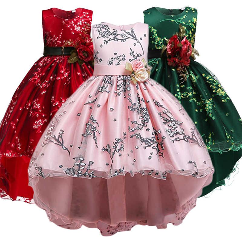 クリスマスエルザのドレスカーニバル衣装子供のイブニングパーティードレス子供プリンセスドレスフラワーガールズのウェディングドレス