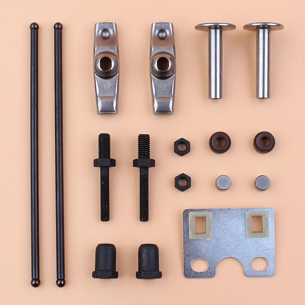 Valve Push Rod Guide Plate Rocker Arm Lifter Tappet Stem Seal Kit For Honda GX340 GX390 188F 5KW 6.5KW Generator Engine Motor