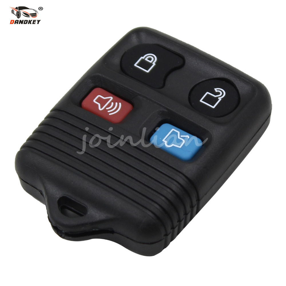 Dandkey 4 buttons 4 colors remote key shell case fob for ford mustang focus lincoln ls