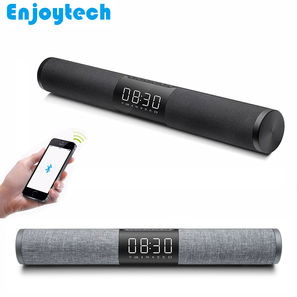 New 10W*2 Wireless Bluetooth Speaker for Iphone Xiaomi Android Phones Cloth Craft Sound Bar Subwoofer for Ipad TV PC Notebook portable wireless bluetooth speaker system talking caller id speakerphone sd card slot charzon mmbox for iphone android smart phones ipad tablets macbook notebooks not for windows 8 built in voice guidance for easy installation no risk t
