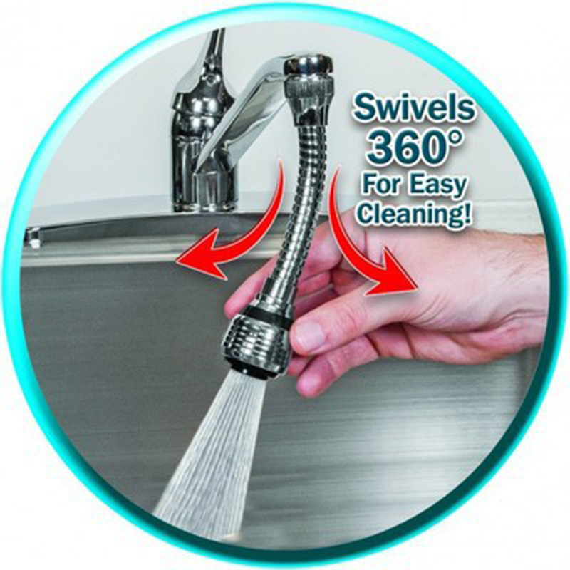 Flexible Faucet Sprayer Turbo Flex 360 Sink Faucet Sprayer Jet Stream Faucet Extension Part Kitchen Sprayer Water Saving Aerator