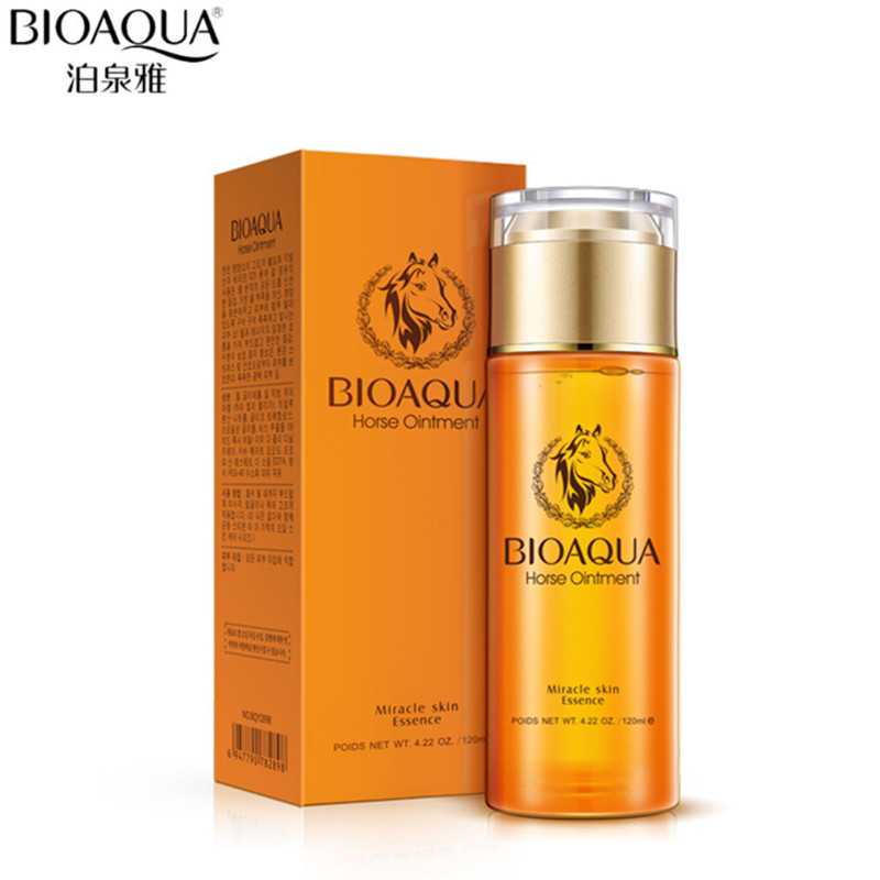 BIOAQUA Horse Ointment Enriched Water Facial Nourishing Face Care Toner Nutrition Hydrating Moisturizing Whitening Tonic Liquid image