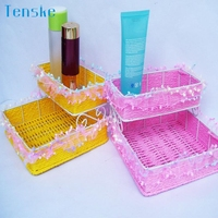 Square Upper And Lower Two Layers Of Lace Pure Hand Woven Storage Basket Wonderful2 27