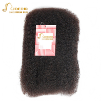 Joedir Hair Brazilian Remy Hair Afro Kinky Curly Bulk Human Hair For Braiding Braiding Hair Extensions Crochet Braid hair 10 22