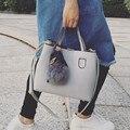 New Leisure Women Leather Handbags Composite Bag Women's Pouch Quality Messenger Bags Shoulder Bag Fashion Tote Bolsos