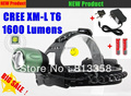 CREE XM-L XML T6 LED 1600 Lumens Rechargeable Zoomable Headlight LED light CREE +2x18650 Battery /  Charger
