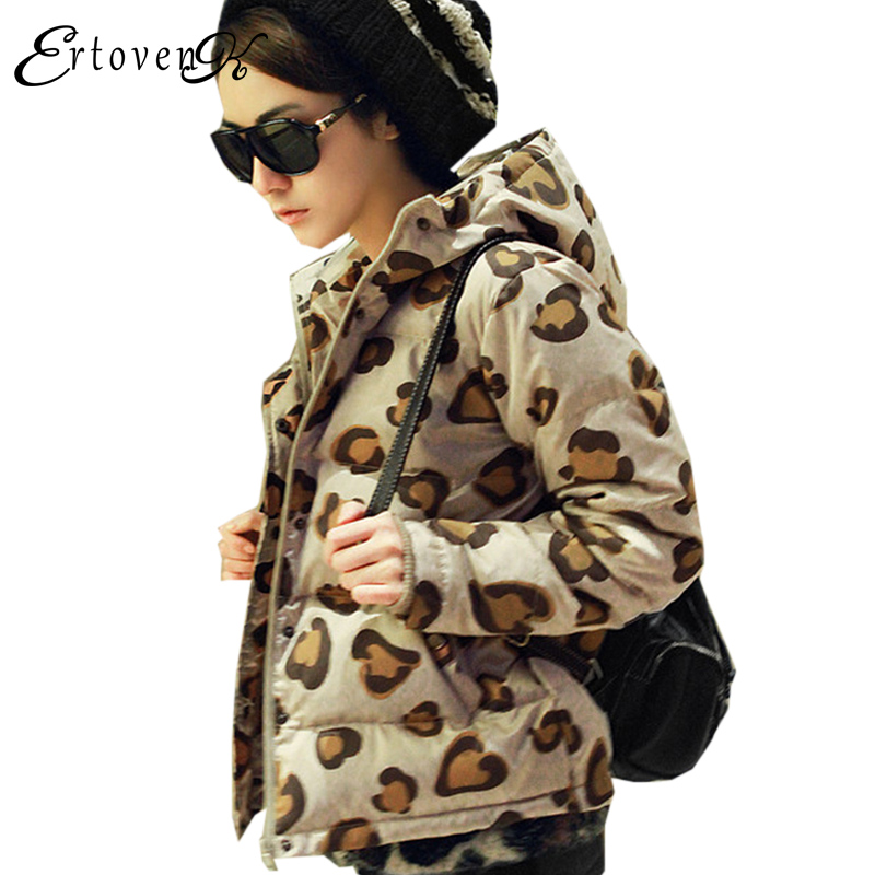 Short Section Cotton Coats Winter 2017 New Women Printing Jackets Hooded Large Size Top  Clothing Outerwear abrigos mujer LH167 plus size women cotton coats jacket winter 2017 new long sleeve top slim fashion clothing korean outerwear abrigos mujer lh013