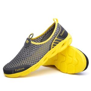 Image 3 - Männer Casual Schuhe 2019 Sommer Mode herren Schuhe Mode Atmungs Slip Auf Mesh Schuhe Weiche Komfortable Größe 45