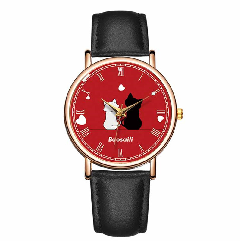 2018 New Stytle Lovely Cute Cat Watch Ladies Wrist Watch Hand Wristwatch For Woman Relojes Para Mujer