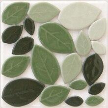 200 г синий желтый зеленый лист керамическая декоративная мозаичная плитка мозаика россыпью DIY хобби, мозаичный художественный материал поставщик стекла