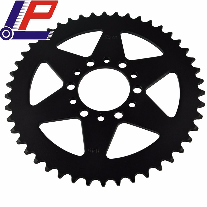 LOPOR Quality MotorcycleParts Rear Sprocket 520-46T For Yamaha IT125 G/H,XT240,SR250,XT250