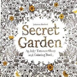 1 PC Secret Garden Adult Coloring Book 96 Pages 18.5*18.5cm Designs: Stress Relief Coloring Book: Garden Designs, Mandalas