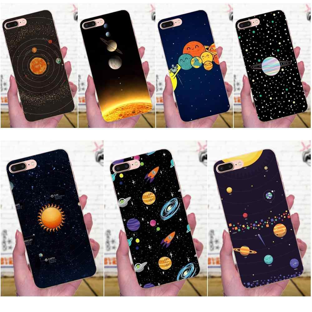 Glossy Space Planet Stars Solar System Beautiful For Galaxy J1 J2 J3 J330 J4 J5 J6 J7 J730 J8 2015 2016 2017 2018 mini Pro