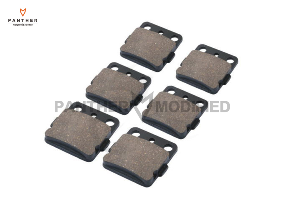 6 Pcs Motorcycle Front & Rear Brake Pads case for YAMAHA ATV YFM 660 RAPTOR YFM660 2001 2002 2003 2004 2005 mfs motor motorcycle part front rear brake discs rotor for yamaha yzf r6 2003 2004 2005 yzfr6 03 04 05 gold
