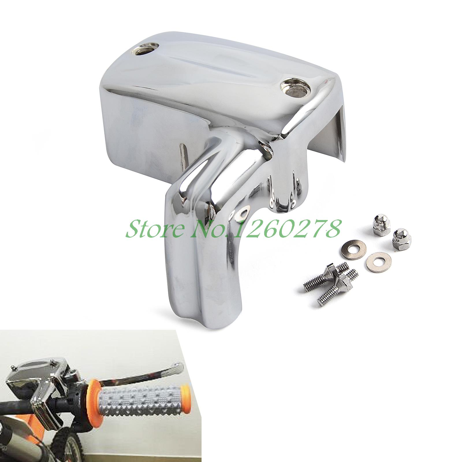 Motorcycle Brake Master Cylinder Cover For Honda VLX 600 DLX Shadow 600 750 1100 VTX1300 V1300C chrome switch housing cover for honda shadow 600 vt 750 1300 vtx vt1300c vlx ace