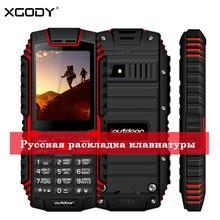 XGODY ioutdoor T1 2G Característica IP68 À Prova de Choque de Telefone cep telefonu 2.4 2MP 128M + 32M GSM Volta câmera FM Telefon Celular 2G 2100mAh