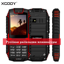 XGODY ioutdoor T1 2G Feature Phone IP68 Shockproof cep telefonu 2.4128M+32M GSM 2MP Back Camera FM Telefon Celular 2G 2100mAh