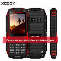 Xgody ioutdoor t1 2g característica telefone ip68 à prova de choque cep telefone 2.4 1212128m + 32 m gsm 2mp câmera traseira fm telefone celular 2g 2100 mah