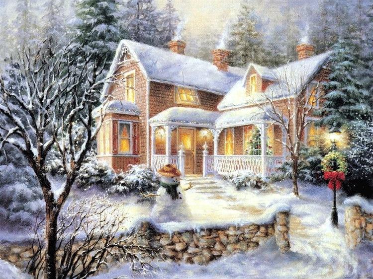 зимние пейзажи картинки декупаж то, что сомнения