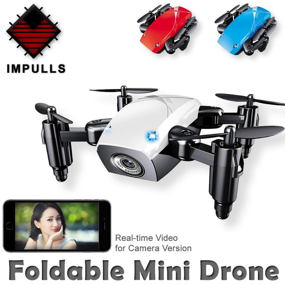 S9 S9W S9HW Tasca Pieghevole RC Mini Drone Drone Micro Drone Elicottero RC Con La Macchina Fotografica HD Mantenimento di Quota Wifi FPV FSWB