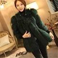 Winter Long Raccoon Dog Fur Coats Women Genuine Leather Raccoon Fur The Coat Luxury Full Pelt Plus Size Jacket 1409036X