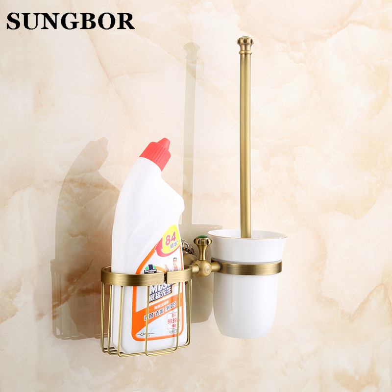 Bathroom copper antique bathroom toilet brush holder suits Archaize toilet holder Bathroom hardware accessories Toilet brush antique brass bathroom toilet c eaner brush holder archaize toilet rack holder bathroom hardware accessories toilet brush holder