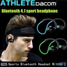 Venta caliente Original Dacom Atleta Bluetooth 4.1 auriculares Inalámbricos auriculares deportes auricular estéreo con micrófono de Cancelación de Ruido