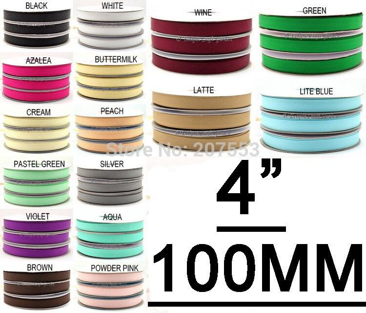ᑎ‰4 pulgadas (100mm) cinta del grosgrain del color sólido banda ...