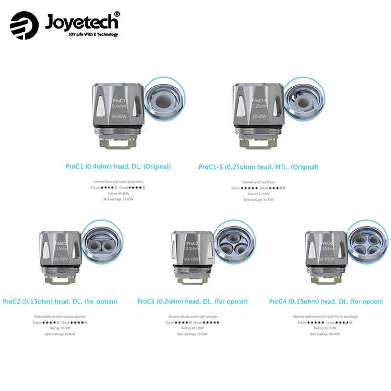 20/10/5pcs Joyetech ProC Coil Head ProC1 ProC1-S ProC4  Evaporator For ProCore Aries Electronic Cigarette Joyetech EVic Vape