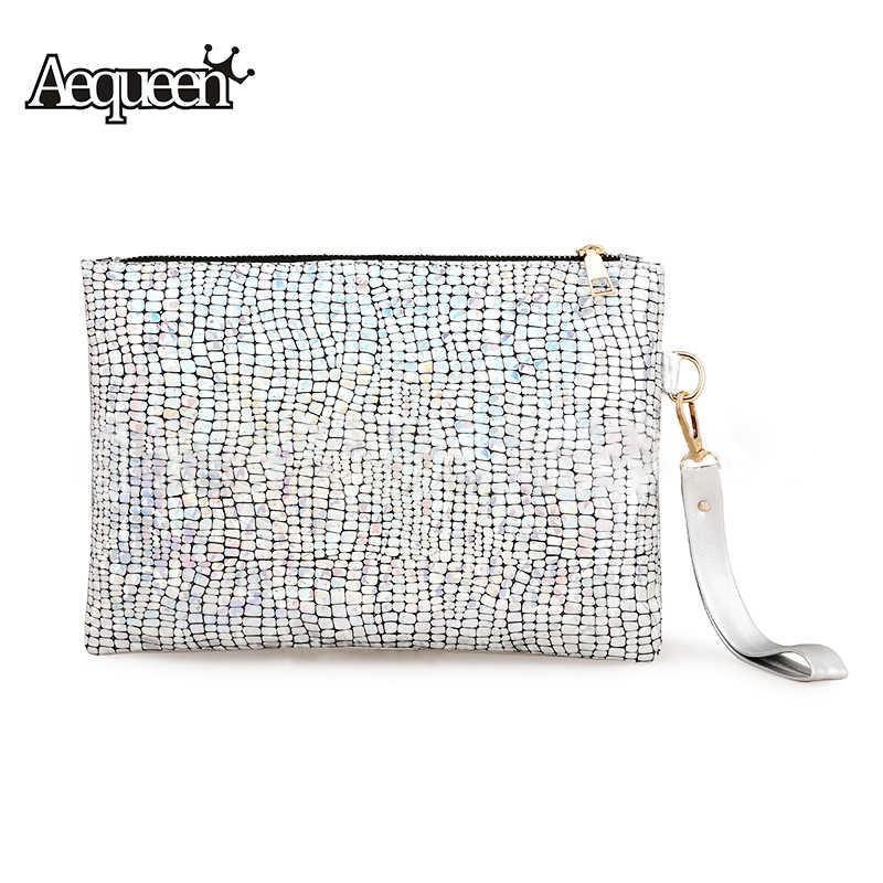 AEQUEEN Silver Bags for Women Party Clutch Bag Woman Bling Bling Evening  Bags Laser Stone Handbag a1854c2d23a8