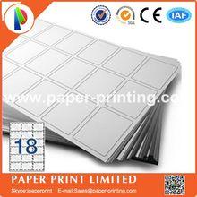 80 листов совместимый L7161/J8161 пустая матовая белая этикетка для лазерного и струйного принтера А4 Этикетка Размер: 63,5x46,6 мм