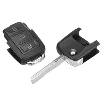 Car 3 Button 434 MHZ Flip Key Fob Blank Blade With ID48 K17 Fit For VW