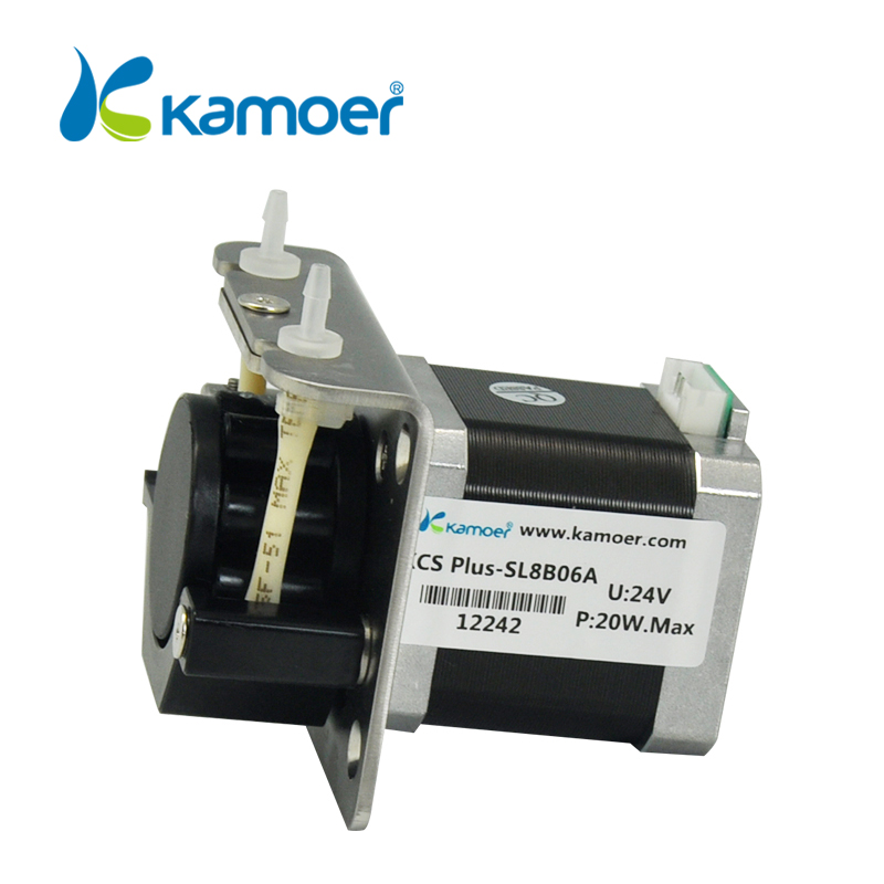 Kamoer KCS PLUS Small Peristaltic Water Pump, Stepper Motor, High Precision, Easy Maintenance & Replacement, Lab Dosing Pump kamoer kcs mini peristaltic pump stepper motor 24v electric water pump