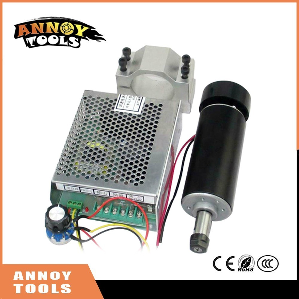 High Quality DIY ER11 high speed DC 500W engraving machine spindle with bracket 52mm MACH3 speed control 10 50v 100a 5000w reversible dc motor speed controller pwm control soft start high quality