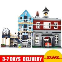City Street Town LEPIN 15004 Fire Brigade Station 15007 European Market Model Building Blocks Kit Set