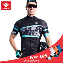 2019 Santic Cycling Jersey MTB Radtrikot Herren Men Sportwear Outdoor Breathable Bike Shirt Maillot Ciclismo Vintage New
