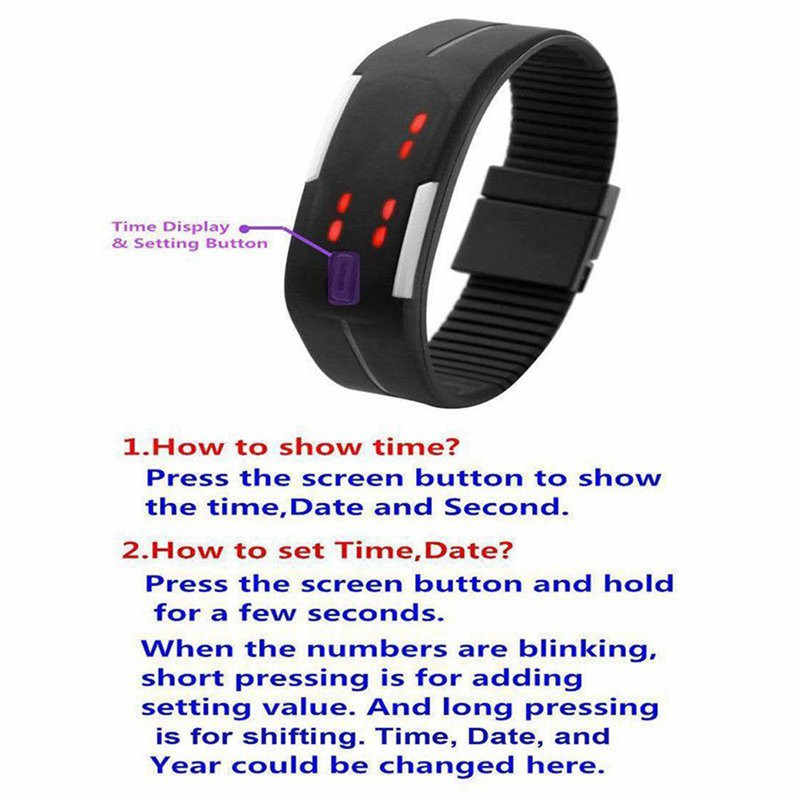 2019 Candy Color Men's Women's Watch Rubber LED kids Watches Date Bracelet Digital Sports Wristwatch for student
