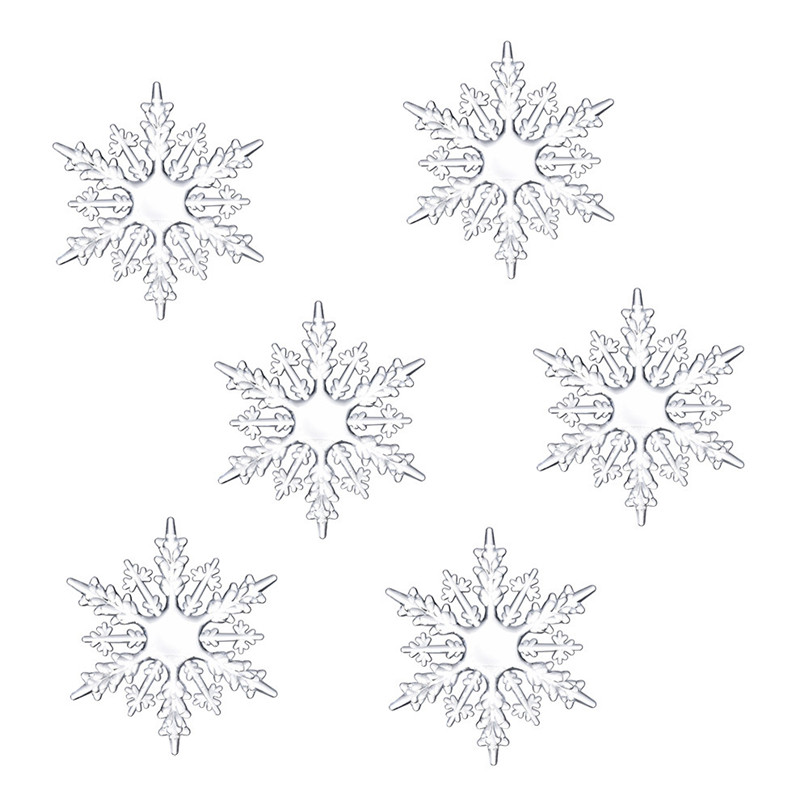Artificial Snowflakes Acrylic Snowflake Christmas Tree Hanging Decoration Decor For DIY Painting Wedding Decorations #3d11 (1)