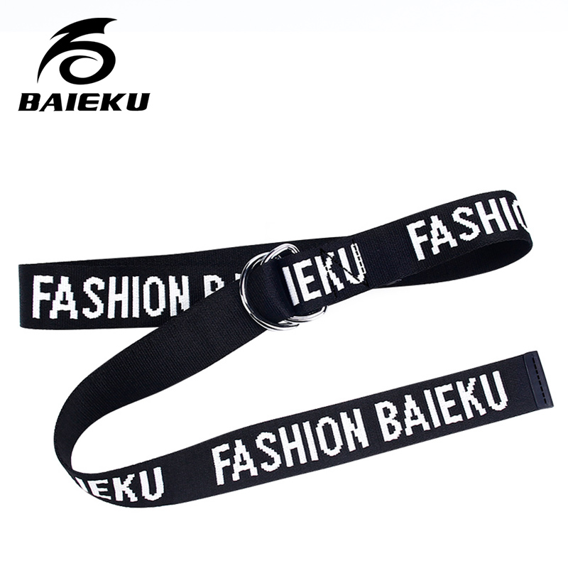 BAIEKU Fashionable young street style canvas belt