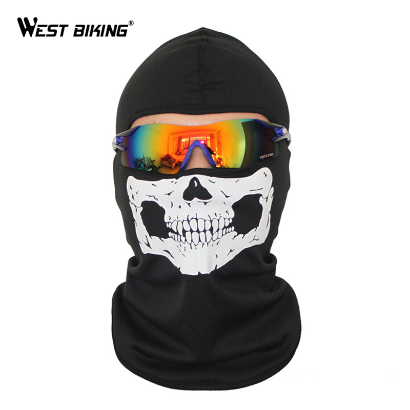 WEST BIKING Cycling Face Masks Balaclava Skull Wicking Headgear Sports Bike Bicycle Riding Hat Head Scarf Cycling Full Face Mask 2017 new full face cover mask three 3 hole balaclava knit hat winter stretch snow mask beanie hat cap new black warm face masks