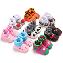 Baby shoes Soft Soles Booties Cartoon Autumn Winter Cute Warm Shoes Lovely Babies Boots