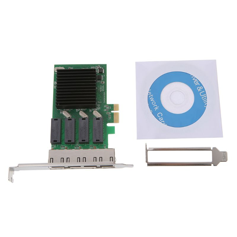 PCI E x4 Gigabit Ethernet Adapter Network Controller Card PC RTL8111H T4 Chip Network Card
