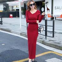 2015 Winter New Large Size Women S National Printing Color Long Sleeved Cotton Casual Dress Plus