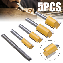5pcs Straight Router Bits Set Hard Alloy 1/4