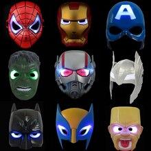 Мстители 4 Endgame танос Железный человек паук фигурка человека-паука Халк Черная пантера Железный человек фигурка светодиодный игрушки для детей 21 см